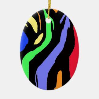Rainbow Stripes Christmas Ornament