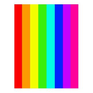 rainbow stripes colorful bars postcard