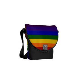 Rainbow Stripes Commuter Bag