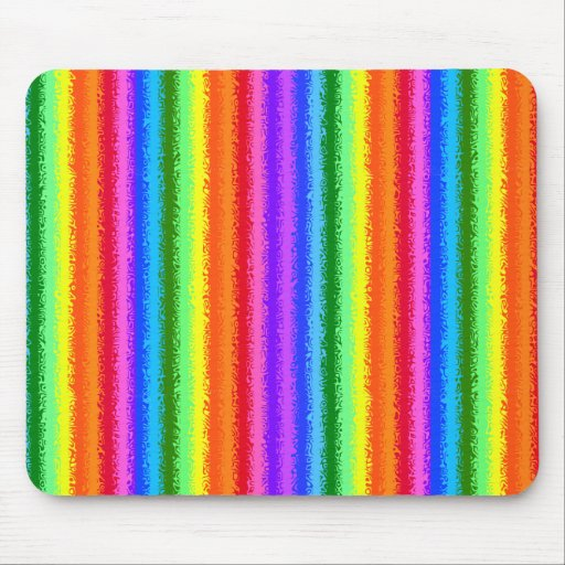 Rainbow Stripes, Dents!  Mouse Pad.
