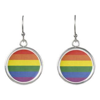 Rainbow stripes earrings