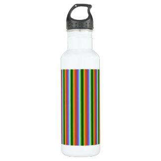 Rainbow Stripes. Fun Multi-color Pattern. 710 Ml Water Bottle