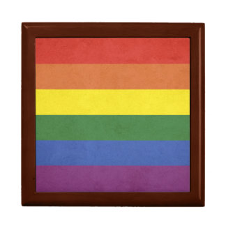 Rainbow stripes gift box