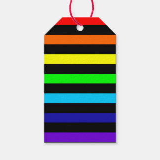 Rainbow Stripes Gift Tags