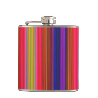 Rainbow Stripes Hip Flask