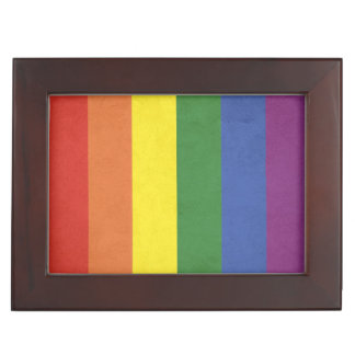 Rainbow stripes keepsake box