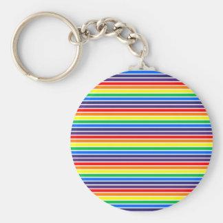 Rainbow Stripes Key Ring