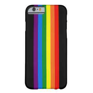 Rainbow Stripes on Black Gay Pride LGBT Support Barely There iPhone 6 Case