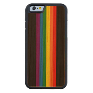 Rainbow Stripes on Black Gay Pride LGBT Support Cherry iPhone 6 Bumper