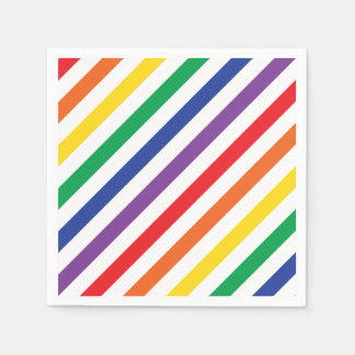 Rainbow Stripes Paper Napkin