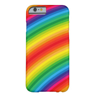 Rainbow Stripes Pattern Barely There iPhone 6 Case