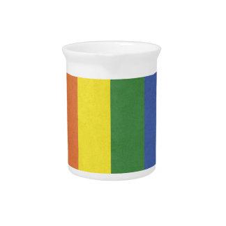 Rainbow stripes pitcher