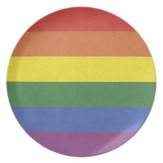 Rainbow stripes plate