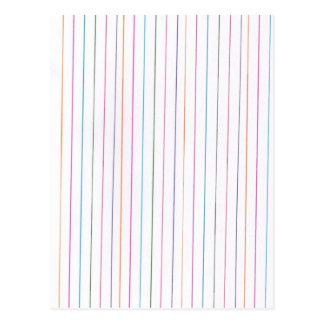 Rainbow Stripes Postcard