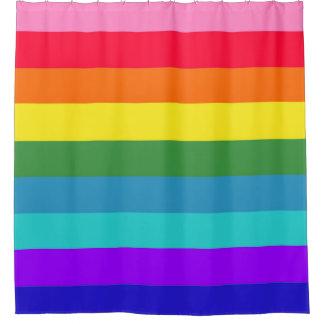 Rainbow Stripes Shower Curtain