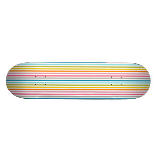 "Rainbow Stripes Skateboard 7 7/8"" or Select a Size"