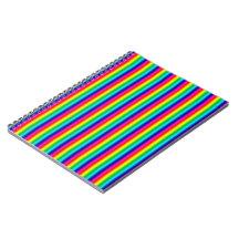 Rainbow Stripes Spiral Note Book