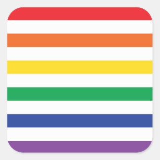Rainbow Stripes Square Sticker