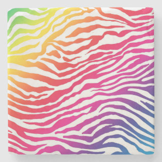 Rainbow Stripes Stone Coaster