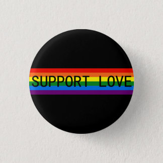 Rainbow Stripes Support Love/LGBT Support Gifts 3 Cm Round Badge