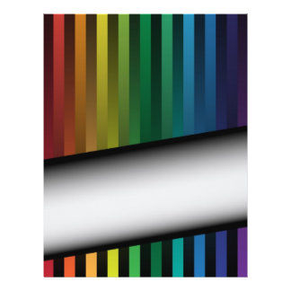 Rainbow Strips 21.5 Cm X 28 Cm Flyer