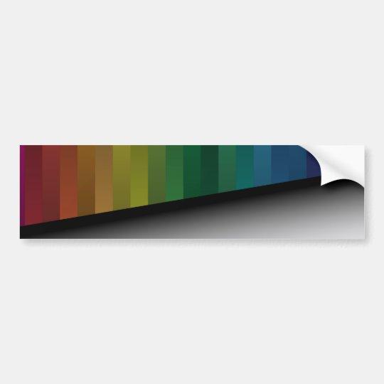 Rainbow Strips Bumper Sticker