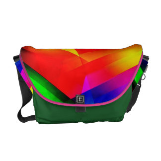 Rainbow Stroke Rickshaw Messenger Bag