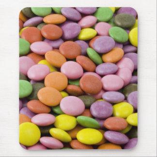 Rainbow sugar candies photograph mouse mat