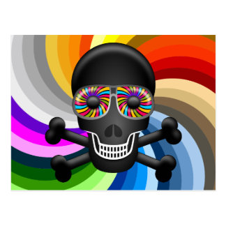 Rainbow Sugar Skull Postcard