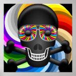 Rainbow Sugar Skull Poster