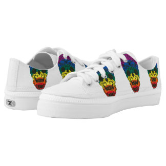 Rainbow Sugar Skull Printed Shoes