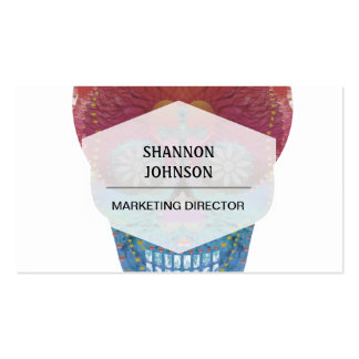 Rainbow sugar skull with tree of life and hearts business card templates