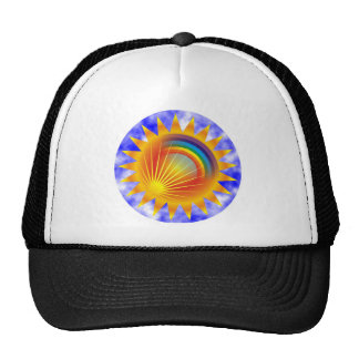 Rainbow Sun Cap