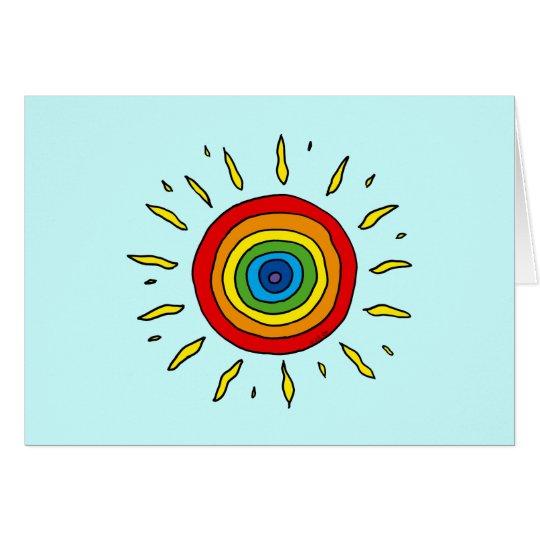Rainbow sun card