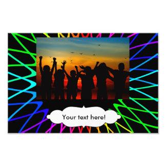 Rainbow sun fractals photograph