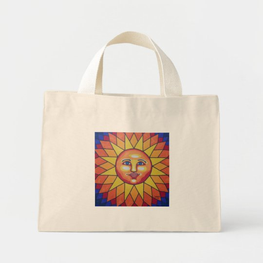 Rainbow Sun Mini Tote Bag