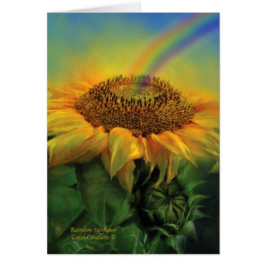 Rainbow Sunflower ArtCard Card