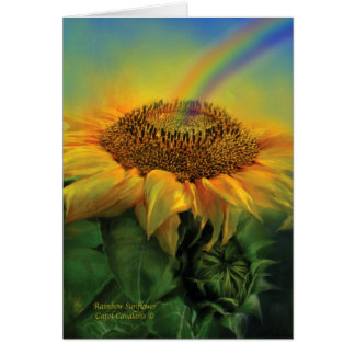 Rainbow Sunflower ArtCard Greeting Cards