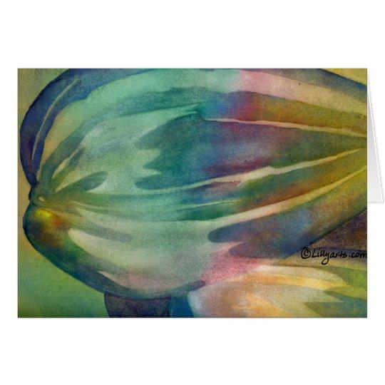 Rainbow Sunflower Seeds Card