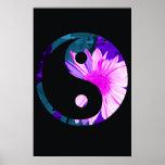 Rainbow Sunflower Yin Yang Print