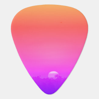 Rainbow Sunset Guitar Pick