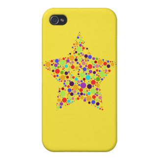 Rainbow Superstar Cover For iPhone 4