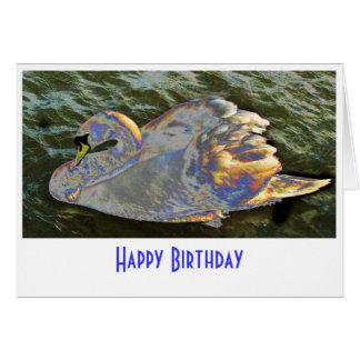 Rainbow Swan Card