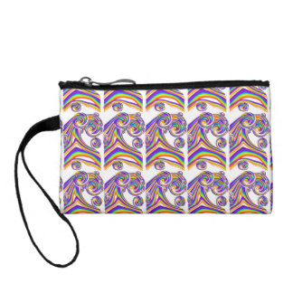 Rainbow Swilrs Wrist Bags Change Purse
