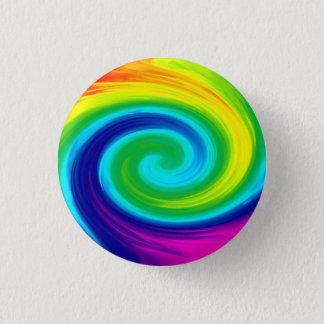 Rainbow Swirl Abstract Art Design 3 Cm Round Badge