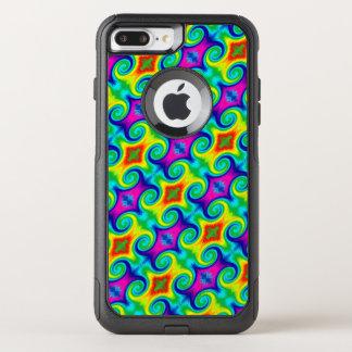Rainbow Swirl Abstract Art Design OtterBox Commuter iPhone 8 Plus/7 Plus Case