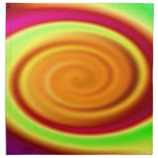 Rainbow Swirl Abstract Pattern Napkin