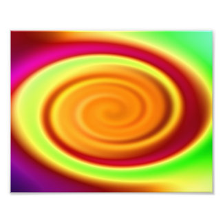 Rainbow Swirl Abstract Pattern Photo Print