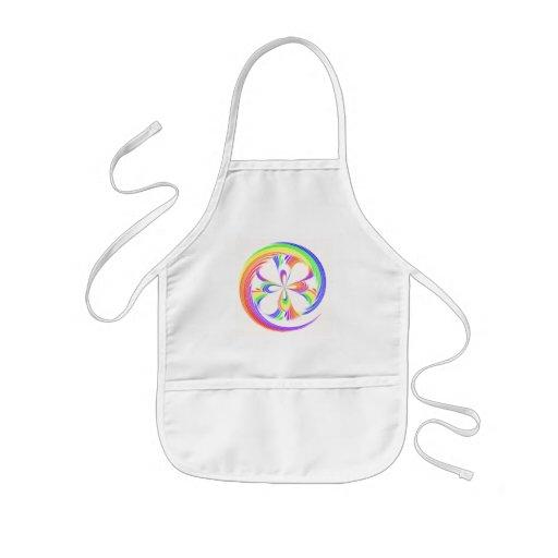 Rainbow Swirl Apron Kids