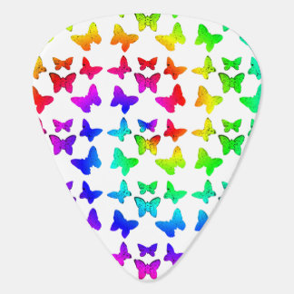 Rainbow Swirl Butterflies Plectrum